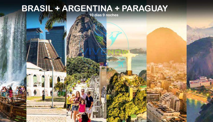 BRASIL + ARGENTINA + PARAGUAY