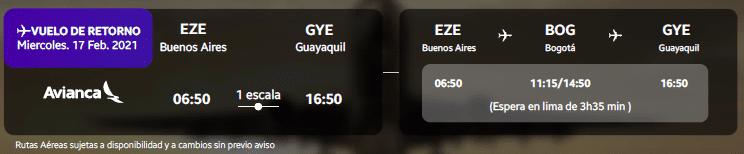 DÍA 8: BUENOS AIRES - GUAYAQUIL